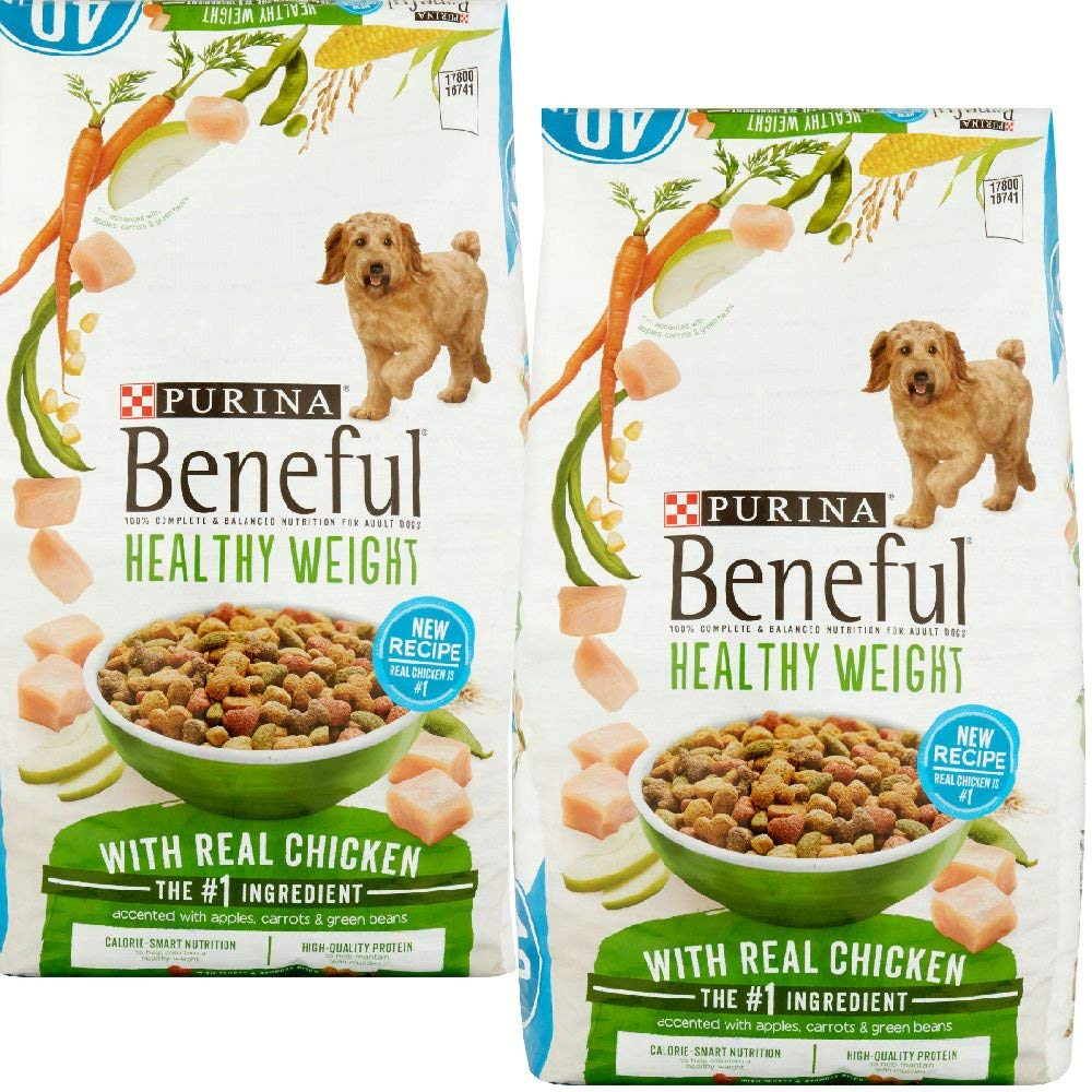Purina Beneful Healthy Weight With Real Chicken (Healthy Weight With Real Chicken, 40 lb. Bag - 2 PACK) by Beneful