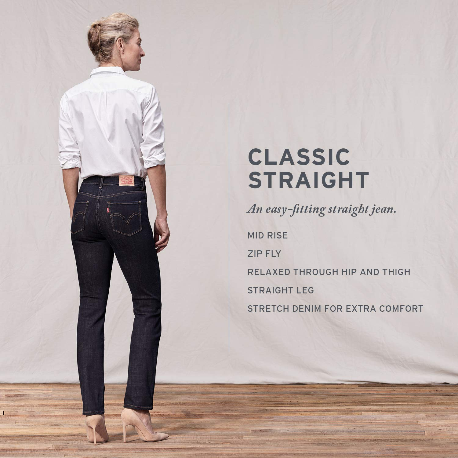 96ffcd83081 Levi's Women's Classic Straight Jeans at Amazon Women's Jeans store