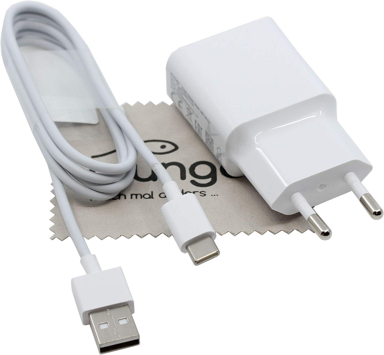 Cargador para Xiaomi MDY-08-EO Original 2 A 1 m para Xiaomi Pocophone F1, Mi 5, Mi 6, Mi 8, Mi MAX 3, Mi Mix 2s, Cable de Carga rápido, Fuente de alimentación con paño mungoo