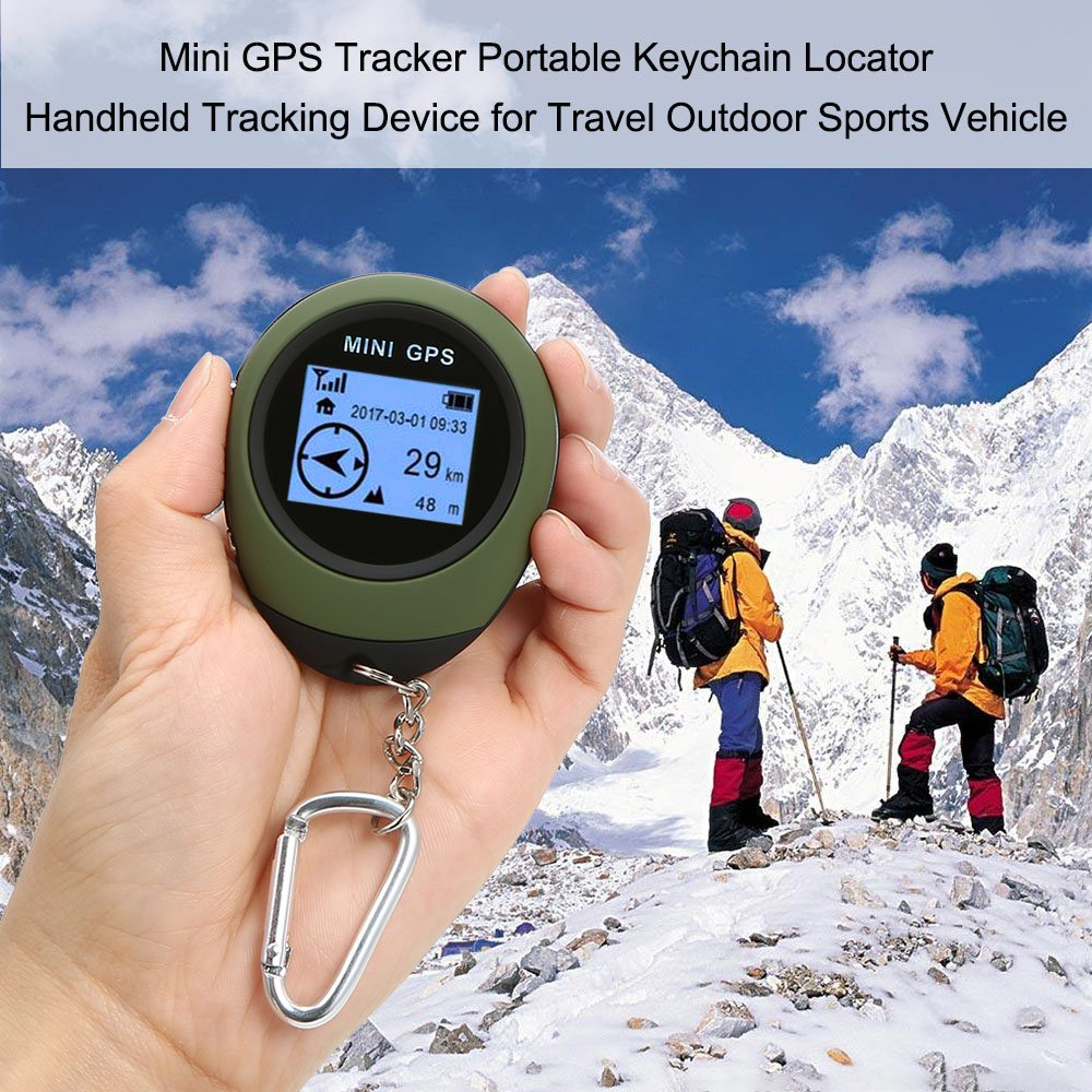 Walmeck Mini GPS Tracker Portable Keychain Locator Handheld Tracking Device for Travel Vehicle Outdoor Sports by Walmeck (Image #6)