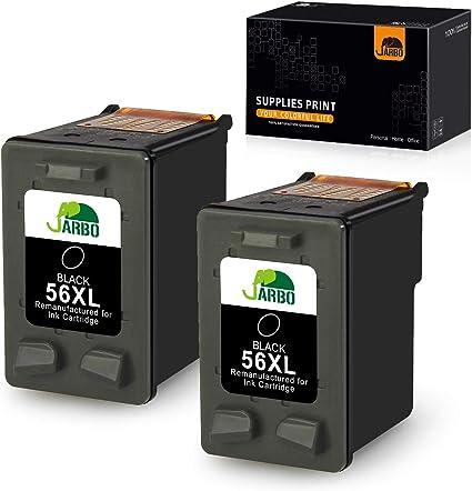 JARBO 56XL - Cartuchos de tinta HP 56 remanufacturados para HP Deskjet 9680gp, 5150, 5550, 450CBi, 450Ci, HP Photosmart 7260, 7350, 7450xi, 7660, 7760, 7762, 7762w, HP Officejet 4212 ,4215, 4255 y 5610: Amazon.es: Oficina y papelería