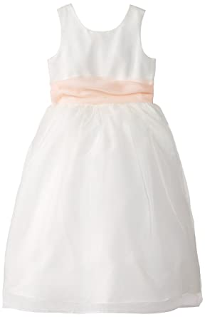 c3fb294f47068 Amazon.com  US Angels Big Girls  Ivory Dress with Sash  Clothing