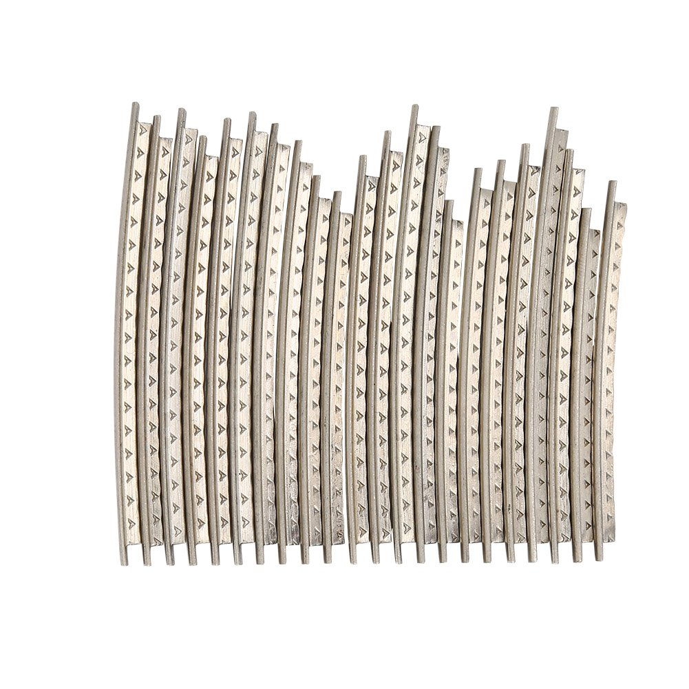 22Pcs Guitar Fret Wire, Bass Guitar Fingerboard Frets for Electric Guitar String 2.2mm VGEBY VGEBYmp6h8noy57