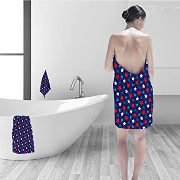 Amazoncom Hand Towel Set Navy Blue Decor American Flag Inspired
