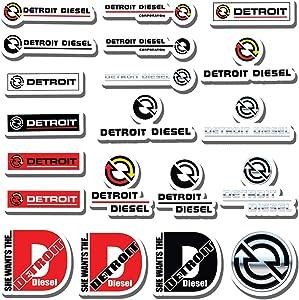 20 PCS Stickers Pack Detroit Aesthetic Diesel Vinyl Colorful Waterproof for Water Bottle Laptop Bumper Car Bike Luggage Guitar Skateboard