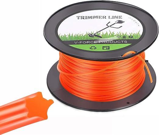 Trimmer Line Hilo de Corte para Desbrozadora 2.8mm/100M para Cortacésped para Jardin Hierba Naranja Estrella: Amazon.es: Jardín