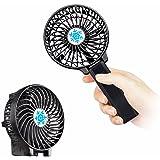 usb扇風機 携帯扇風機 ZDTech 折り畳み式 携帯ファン 超静音 超強力 手持ち/卓上置き両用 バッテリー電池付き 熱中症対策 風量3段階調節 (ブラック)