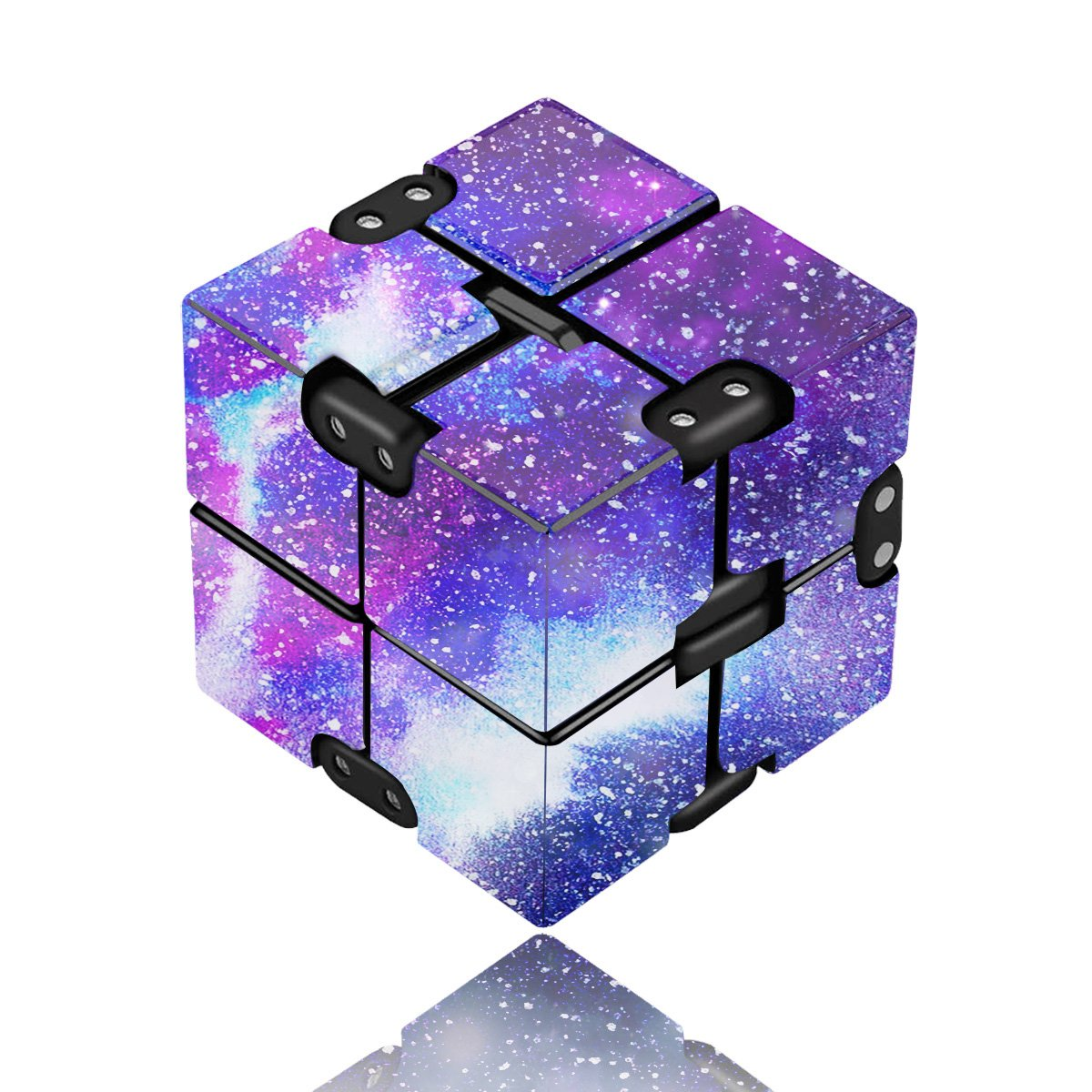 Yomiie Infinity Cube Fidget Toy for Adults and Kids, Fidget Finger Toy Stress and Anxiety Relief, Killing Time Unique Idea Cool Mini Gadget for ADD/ADHD/OCD