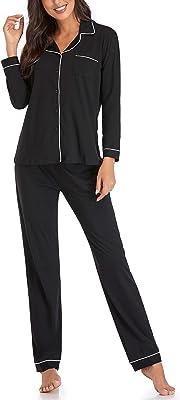 Women's Pajamas Set, Long Sleeve Sleepwear Soft Pj Lounge Sets Nightwear Pajamas for Women