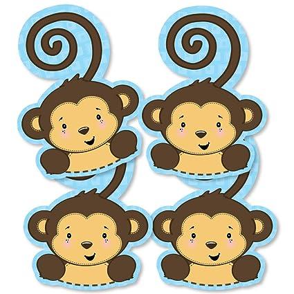 amazon com blue monkey boy monkey decorations diy baby shower or