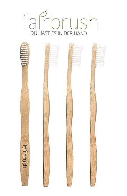 SOSTENIBLE fairb Rush bambú cepillo de dientes con uno a otro Donativos En Tercera de mundo