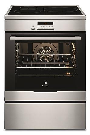 Electrolux EKI6771AOX - Cocina (Cocina independiente, Acero inoxidable, Botones, Frente, LCD