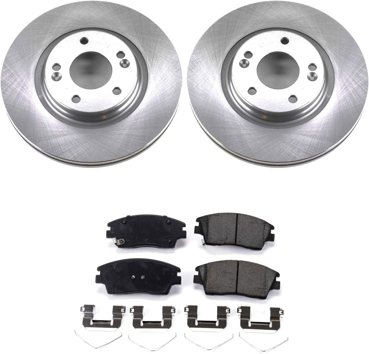 For Both Left and Right One Year Warranty Stirling 2017 for Kia Sportage Rear Premium Quality Disc Brake Rotors And Ceramic Brake Pads -