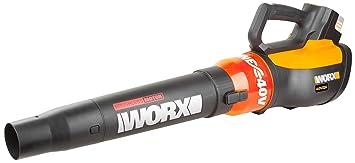 Worx wg569e.9 40 V batería Sopladora turbina, flujo de aire ...