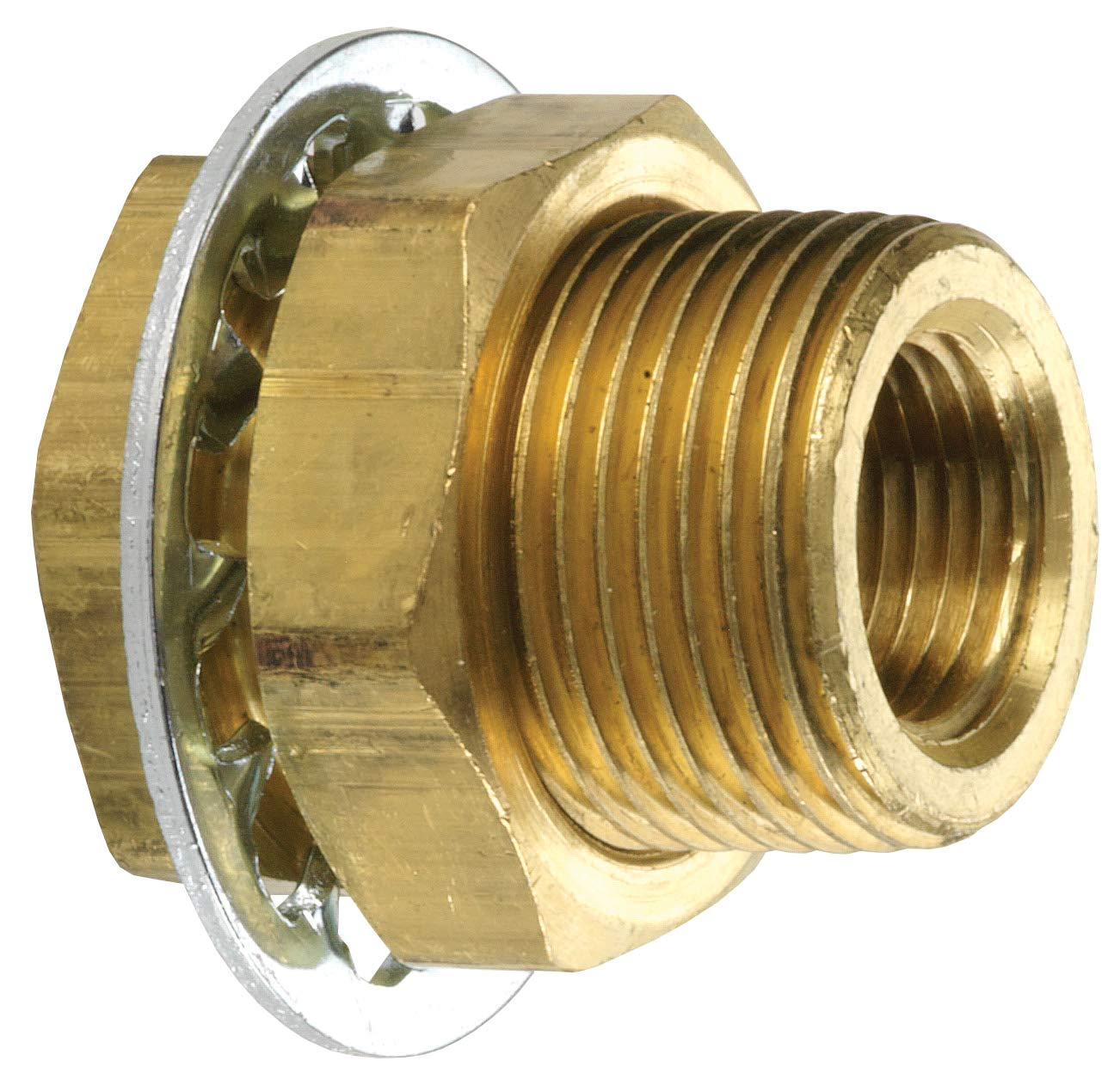 Brass Dixon 1//4 FNPTF Bulkhead Coupling 207BH4S 3//4 Hole Size Length .94
