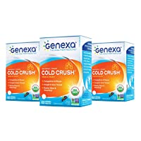 Genexa Cold Crush - 180 Tablets (3 Pack) | Certified Organic & Non-GMO, Physician Formulated, Homeopathic | Cough & Cold Medicine