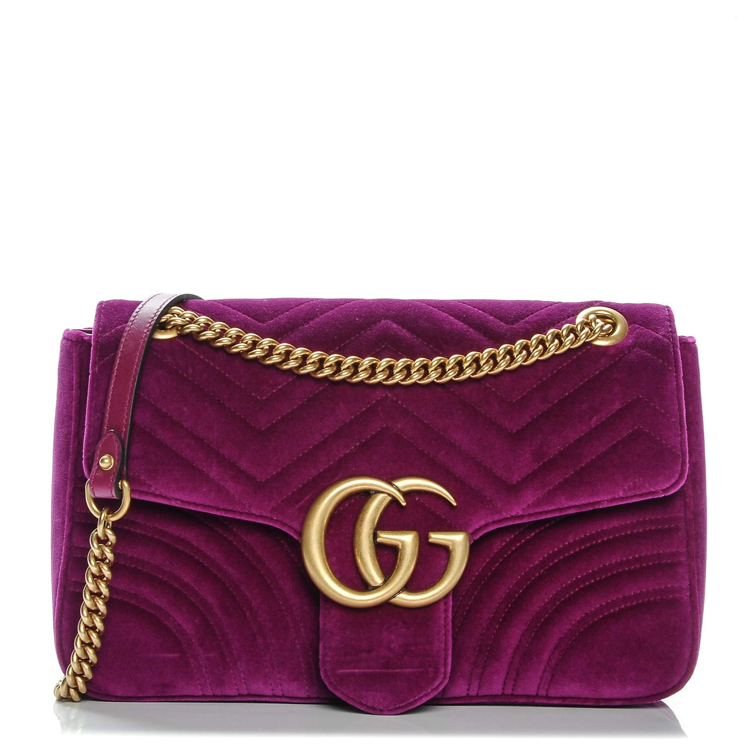 Amazon.com Gucci Fucshia Marmont Pink Velvet Handbag Bag