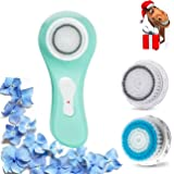 Beauty Nymph Sonic Facial Cleansing Brush, Skin Care Expert Electric Daily Cleansing & Superior Deep-Pore Exfoliation Brush (Green)