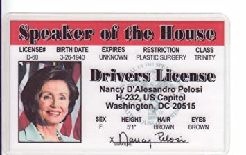 Amazon nancy pelosi novelty drivers license fake id nancy pelosi novelty drivers license fake id identification for fans of the speaker of the altavistaventures Gallery