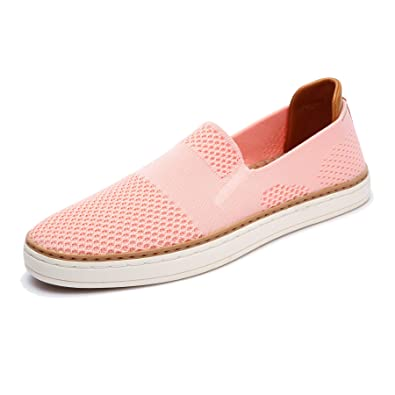2114127d77e TRULAND Women s Casual Shoes Slip On Sneakers - Breathable Stretch Knit  Loafers with Comfortable EVA Mesh Insole