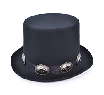 60f8d2e7d0f02 Adultos 1980 de Rocker Slash estilo negro sombrero de copa disfraz accesorio   Amazon.es  Juguetes y juegos