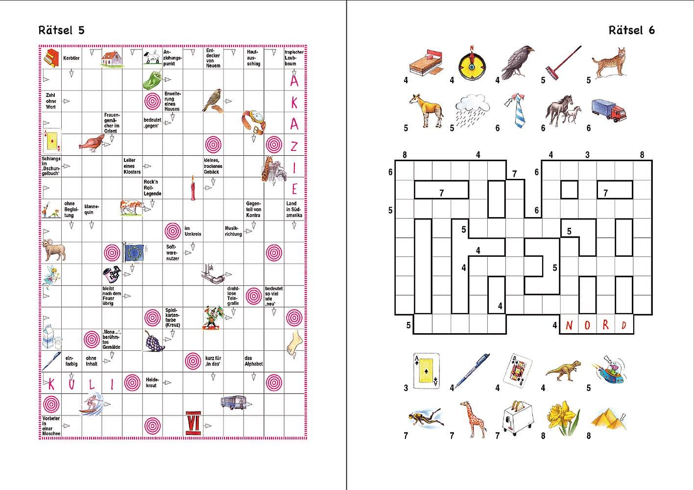 Kreuzworträtsel Für Kinder Online
