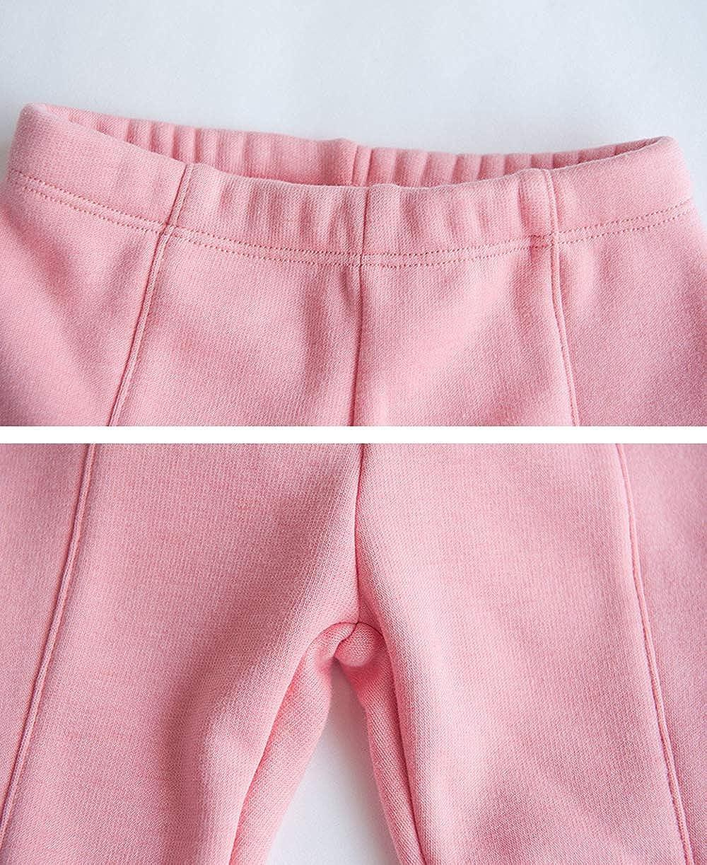 AIKSSOO Toddler Baby Girls Kitten Pattern Cotton Thick Leggings Pants