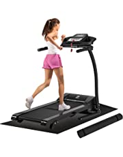 ZELUS Folding Treadmill Electric Motorized Running Machine with Downloadable Sports App Control Walking & Running OR Treadmill Mat, Cup Holder, MP3 Player & Wheels Easy