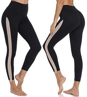 a7febb7e04a MISS MOLY Women Leggings Fashion Striped High Waist Leggings Slimming Yoga  Pants Waistband Workout Sport Fitness