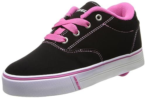 Heelys - Launch 2.0 - Zapatillas con ruedas - Cuero nobuk sintético - Negro / rosa - 38: Amazon.es: Zapatos y complementos