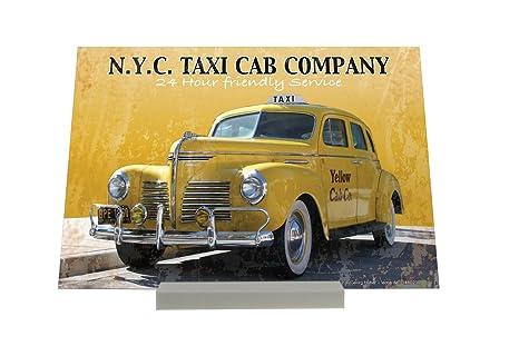 Soporte Fotografias De Coches Vintage G. Huber Tapa del taxi de NYC Letrero