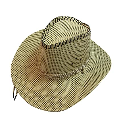 a6945977 Amazon.com: Pausseo Straw Hat, Fashion Unisex Western Cowboy Hat Roll up  SombreroWide Brim Straw Cap for Gentleman: Kitchen & Dining