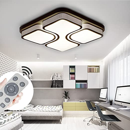 Myhoo 48w Led Plafonnier Dimmable Led Lampe De Salon Salle A Manger Eclairage Au Plafond Couloir Lumiere Classe Energetique A