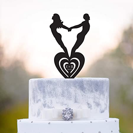 Decoración para tarta de yoga o boda, diseño de corazón y ...