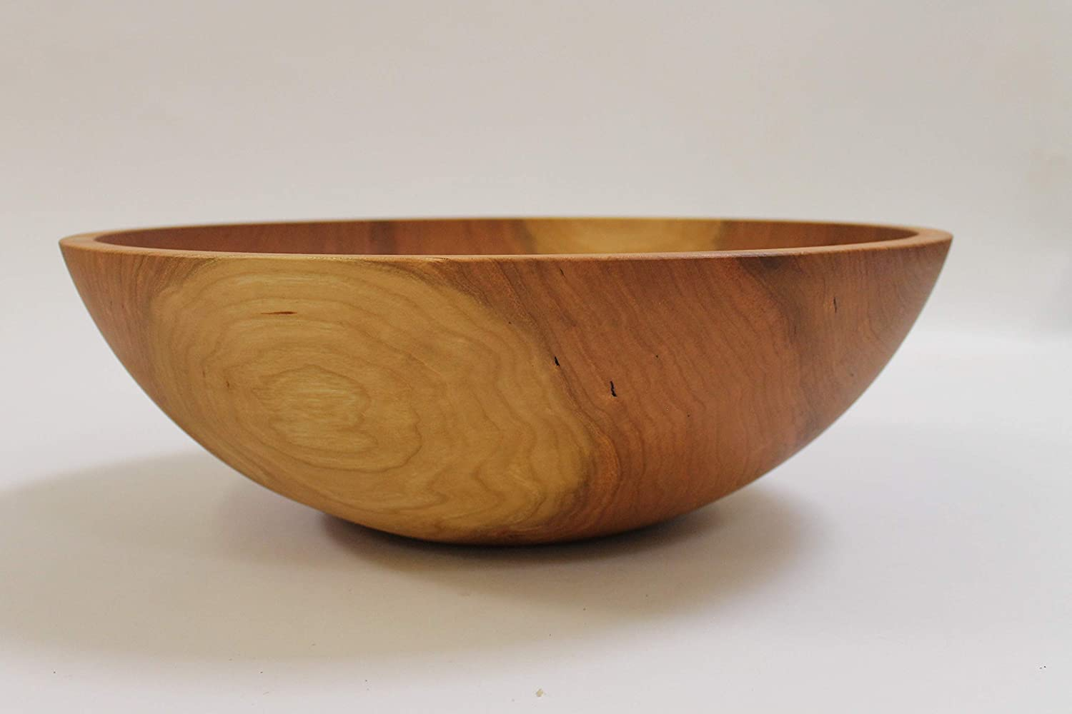 17 Inch Solid Cherry Wood Salad Bowl Holland Bowl Mill