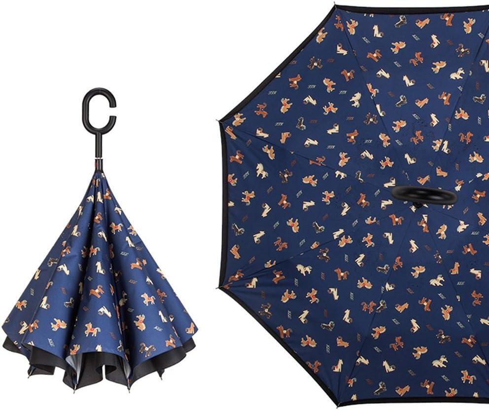 GAOYANGyusan GAOYANG Umbrella Double Windproof Reverse Umbrella Men And Women Folding Rain And Rain Dual Large Handle Umbrella