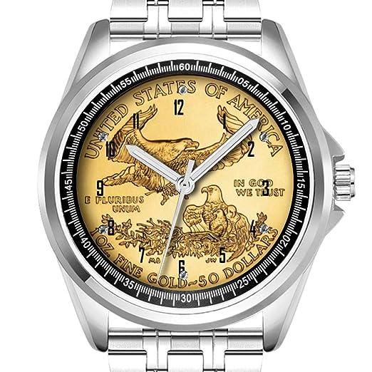 Reloj de Pulsera Personalizado para Hombre, a la Moda, Resistente al Agua, Diamante