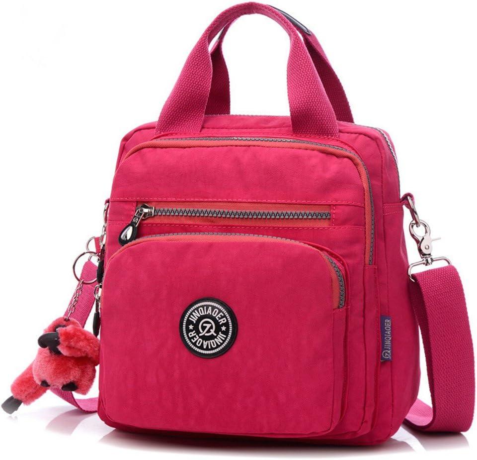 Tenrry Women Shoulder Crossbody Bag Multi-Function Waterproof Zipper for Outdoor Travel