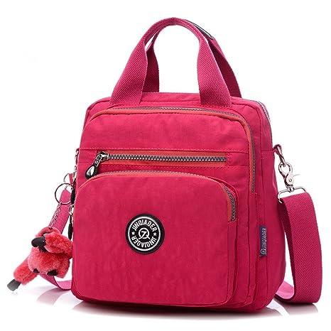 9cd4cc7168 Girls Multifunction Waterproof Nylon Top Handle Handbag Crossbody Satchel Purse  Backpack Cute Multi-pocket Zipper
