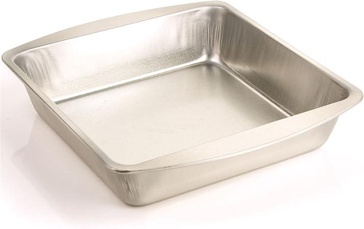 Profundidad 45 mm cuadrado para tartas – Horno lata molde para hornear pan/galletas/Brownies: Amazon.es: Hogar