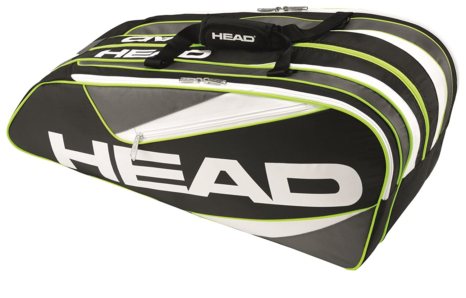 Amazon.com: HEAD Elite 6R Supercombi Tennis Bag, Black ...