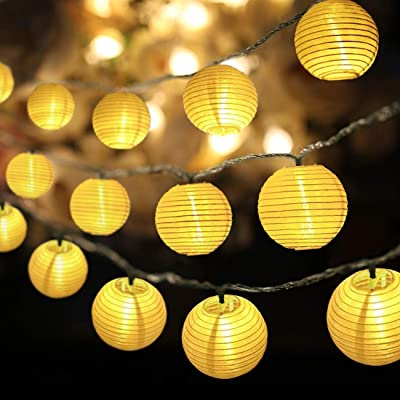 RTMOK Lantern String Lights Waterproof 30 LED, Light String 14.7ft(4.5M) Home Decorations for Party, Wedding, Halloween, Christmas, Garden and Holiday Atmosphere Light with Battery Case(Warm White) : Garden & Outdoor