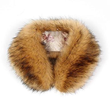 fanbufan Echarpe Fausse Fourrure De Renard Dames Châle Col En Fourrure D  hiver  Amazon.fr  Vêtements et accessoires 2aca1b2a2eb