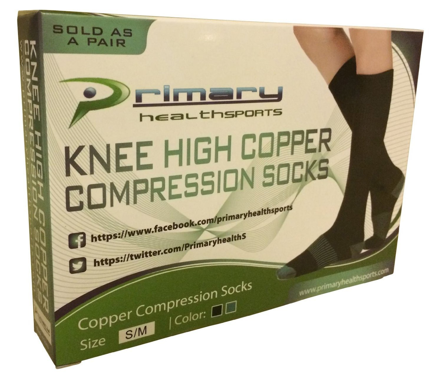Primary Health Sports Best Compression Copper Socks - Great for Men, Women, Travelers, Nurses, Pregnancy - Protect & Support your Calves, Ankles, and Feet. Graduated Compression. 15-20mmhg by Primary Health Sports (Image #4)