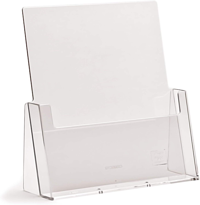 formato A4 confezione da 2 colore: Trasparente Taymar Espositore per brochure