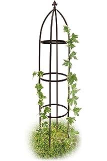 Rankstab mit Spirale Rost-Optik Rankhilfe Metall Garten Gartenstecker 3er Set