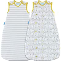 The Gro Company Elephant Love Grobag Baby Sleeping Bag Day and Night Twin Pack, 0-6 Months, 1.0 and 2.5 Tog