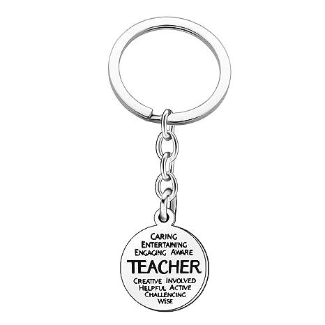 Llavero para profesor, para el día del profesor, cumpleaños ...
