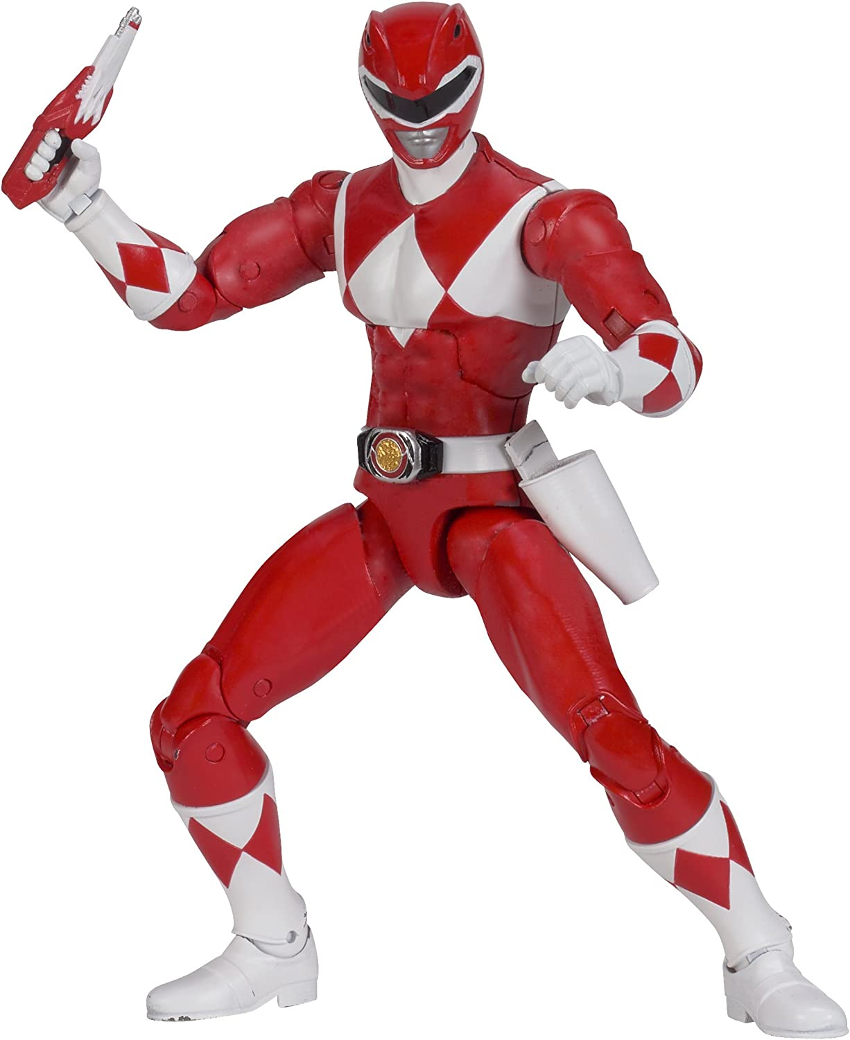 """Bandai Power Rangers Legacy MIGHTY MORPHIN RED Loose 6/"""" Action Figure 2016"""