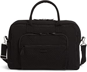 Vera Bradley Microfiber Weekender Travel Bag, Black